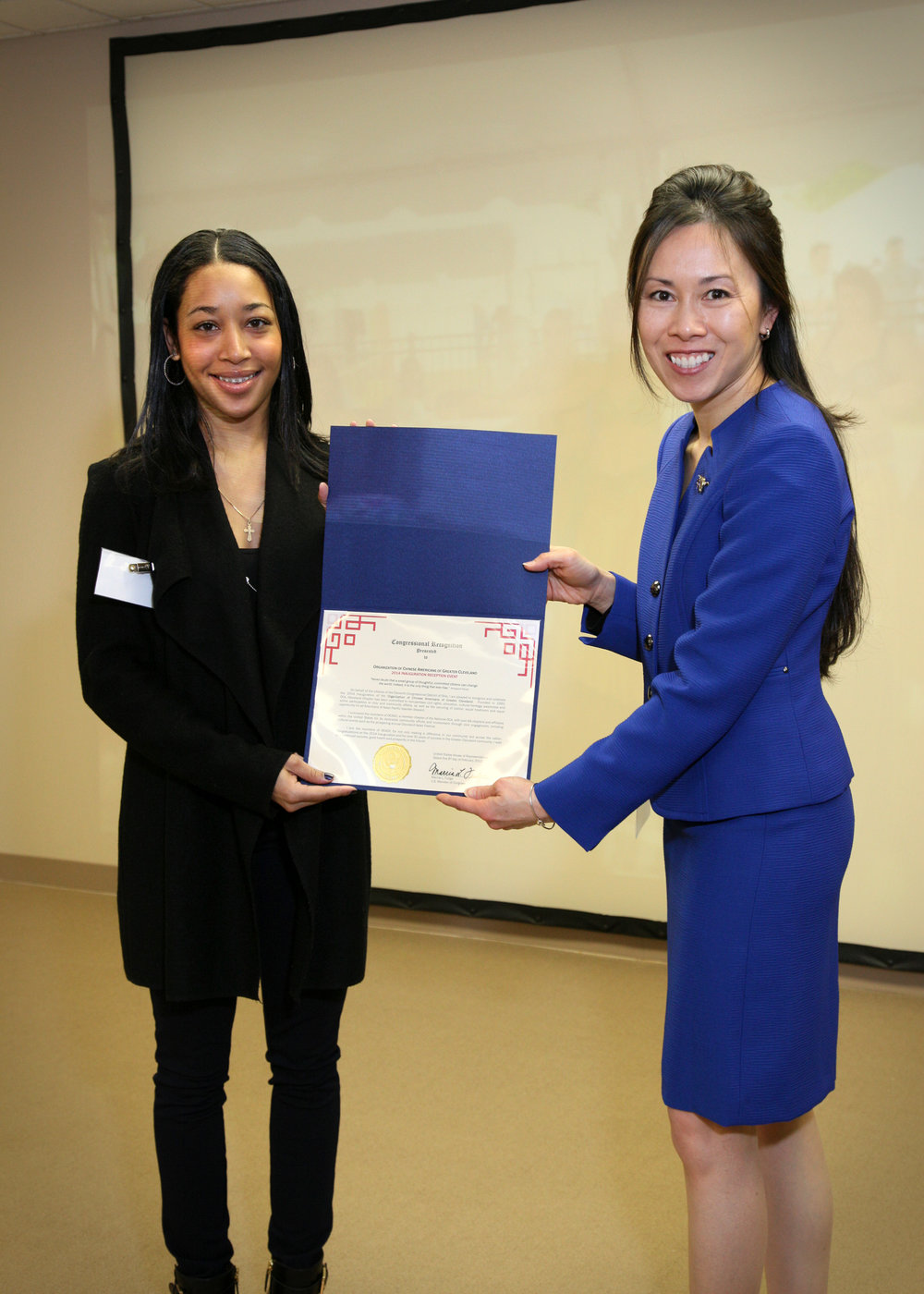 Fig 5 Lisa Wong Proclamation  Congresswoman Fudge Office