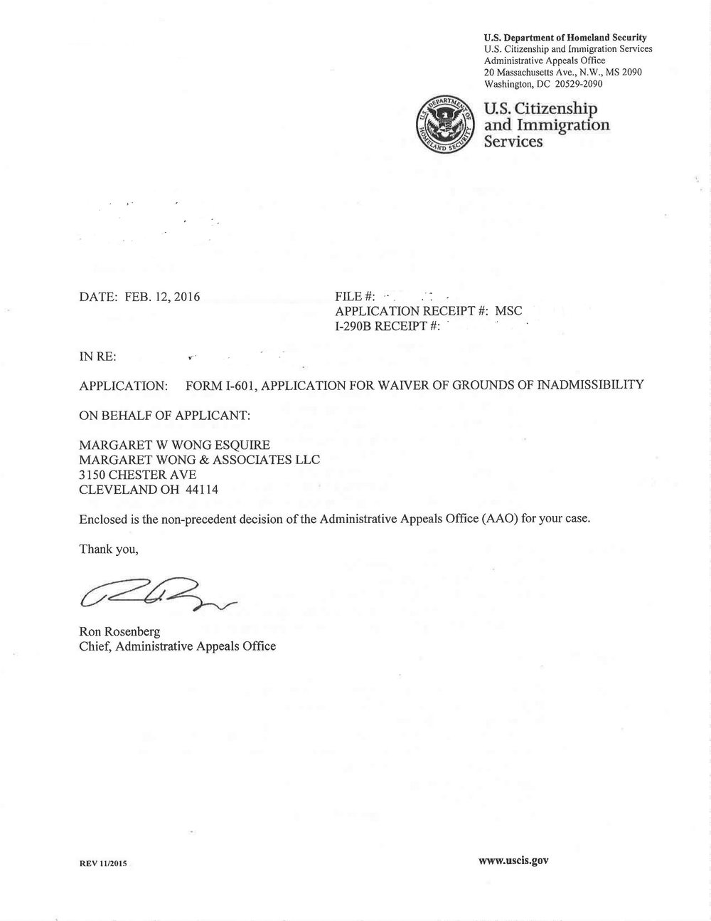An Immigration Status Approval Notice is The Most Beautiful Piece of
