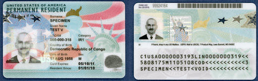 The Green Card as redesigned for 2017.