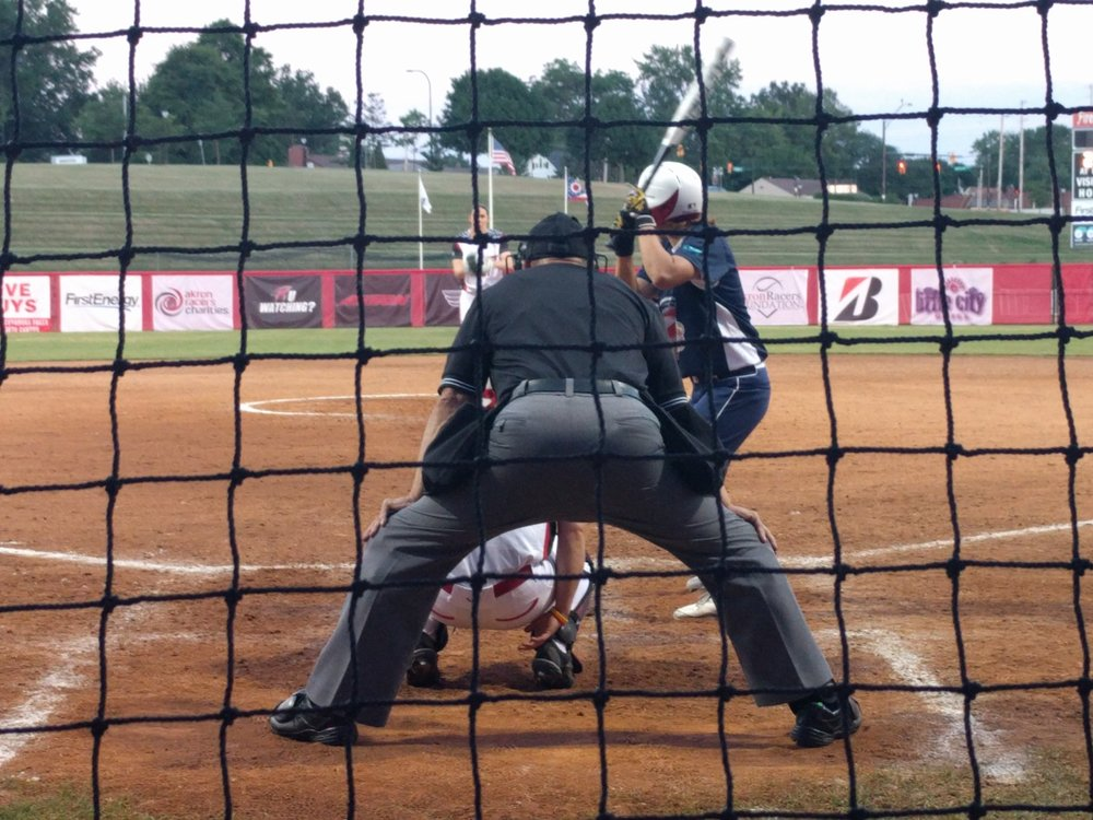 Beijing Shougang Eagles at bat against the Akron Racers June 21, 2017.