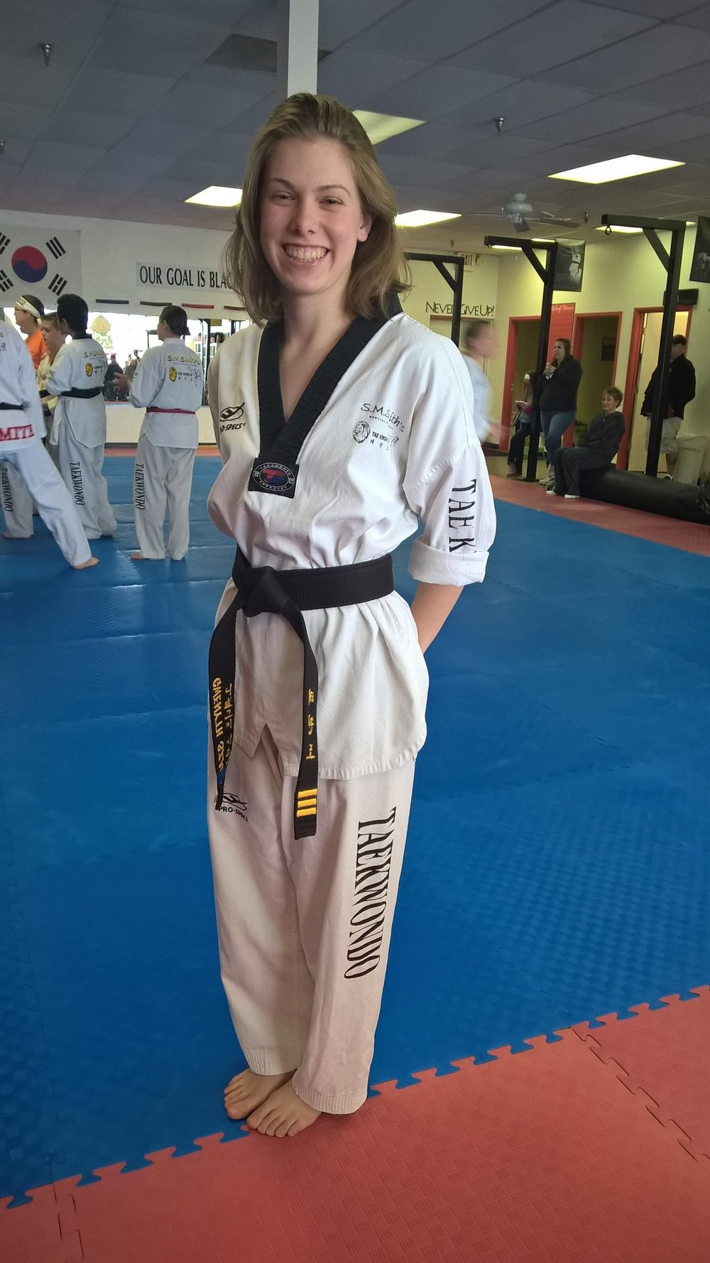 """What are the five goals in Taekwondo?"" I asked a small white belt, no older than five-years-old. I slid back into the examiner's chair, satisfied that I had stumped this ""little lion,"" as we call the younger students. -"