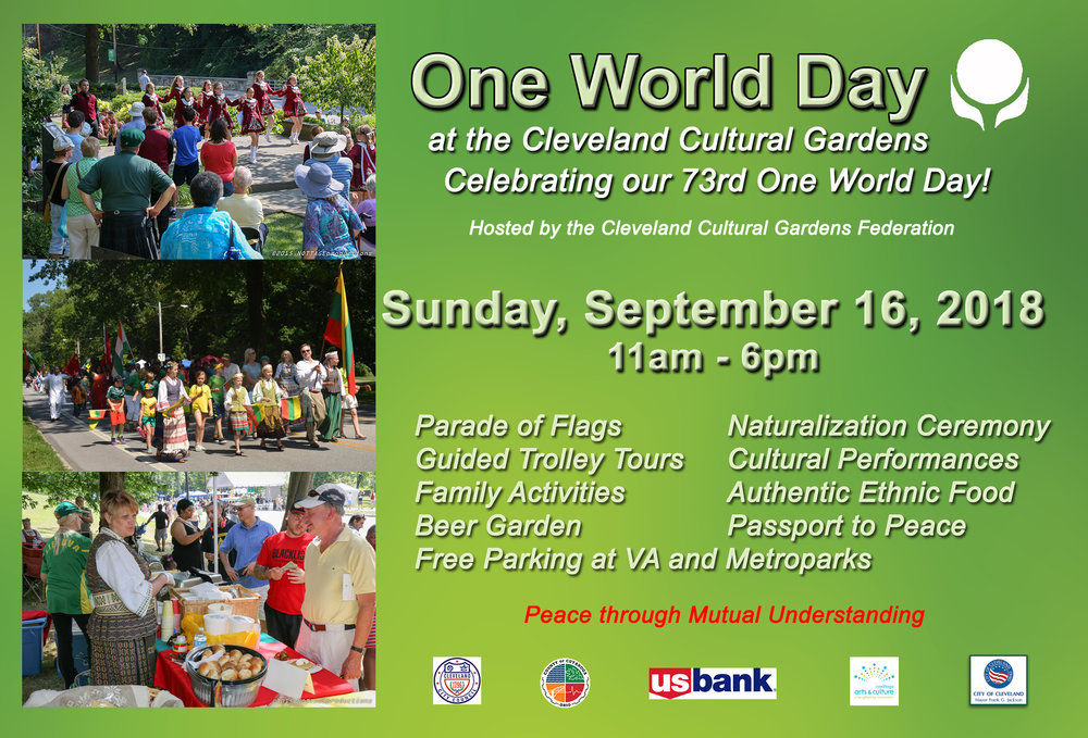 Tabling at One World Day in the Cleveland Cultural Gardens — Out ...