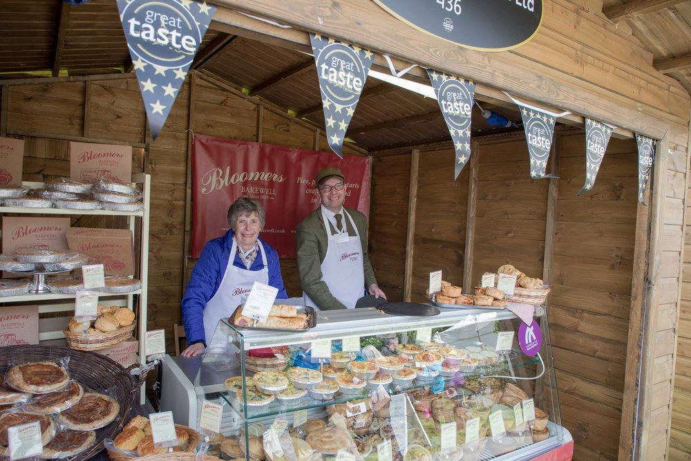 Last but not least it was great to see Derbyshires local traders at a major RHS show.  The team at Bloomers of Bakewell offering the traditional Bakewell pudding among their fine range of food.