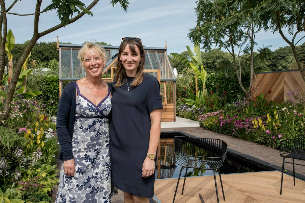 Carol Klein and Lilly Gomm on the Gabriel Ash Greenhouse Garden