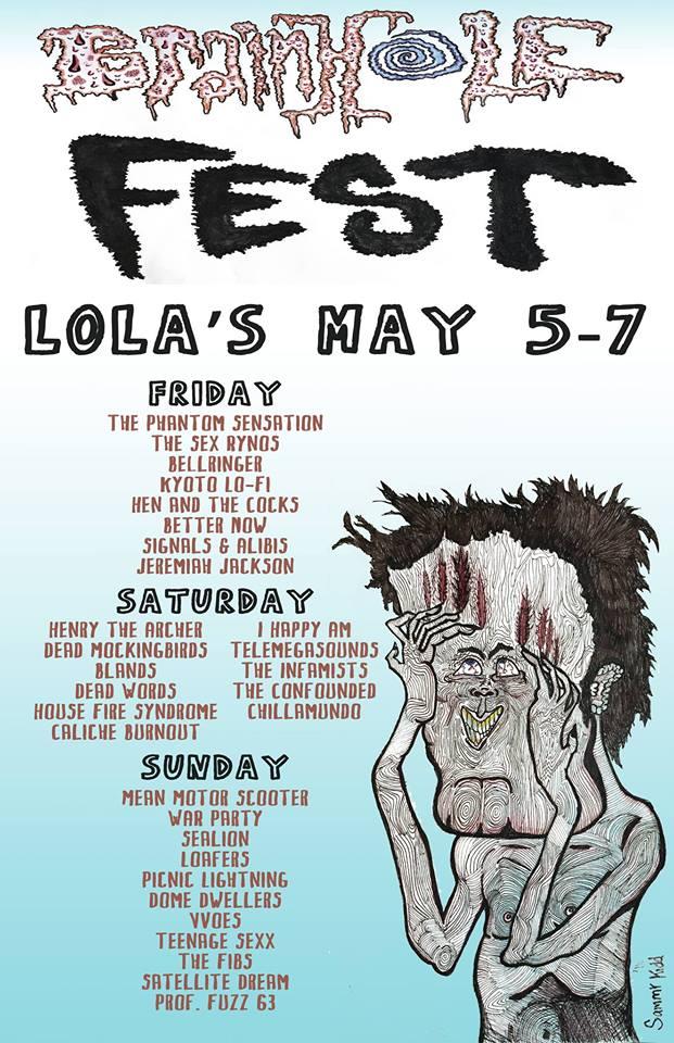 Brainhole Fest show poster - Image via Brainhole Fest FB Event Page