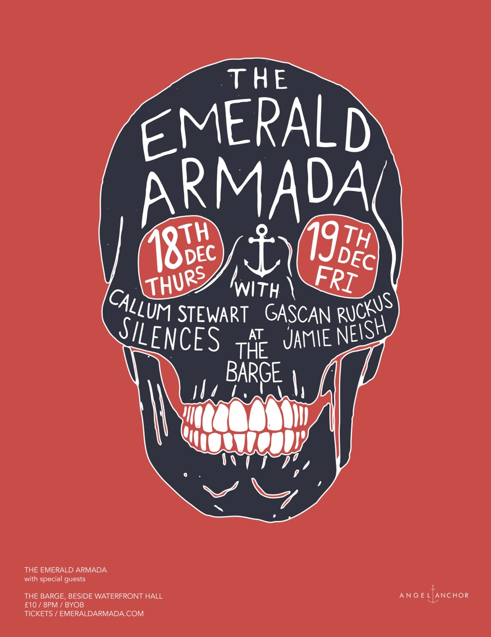 EA Gig Poster Christmas 2014 Red Final