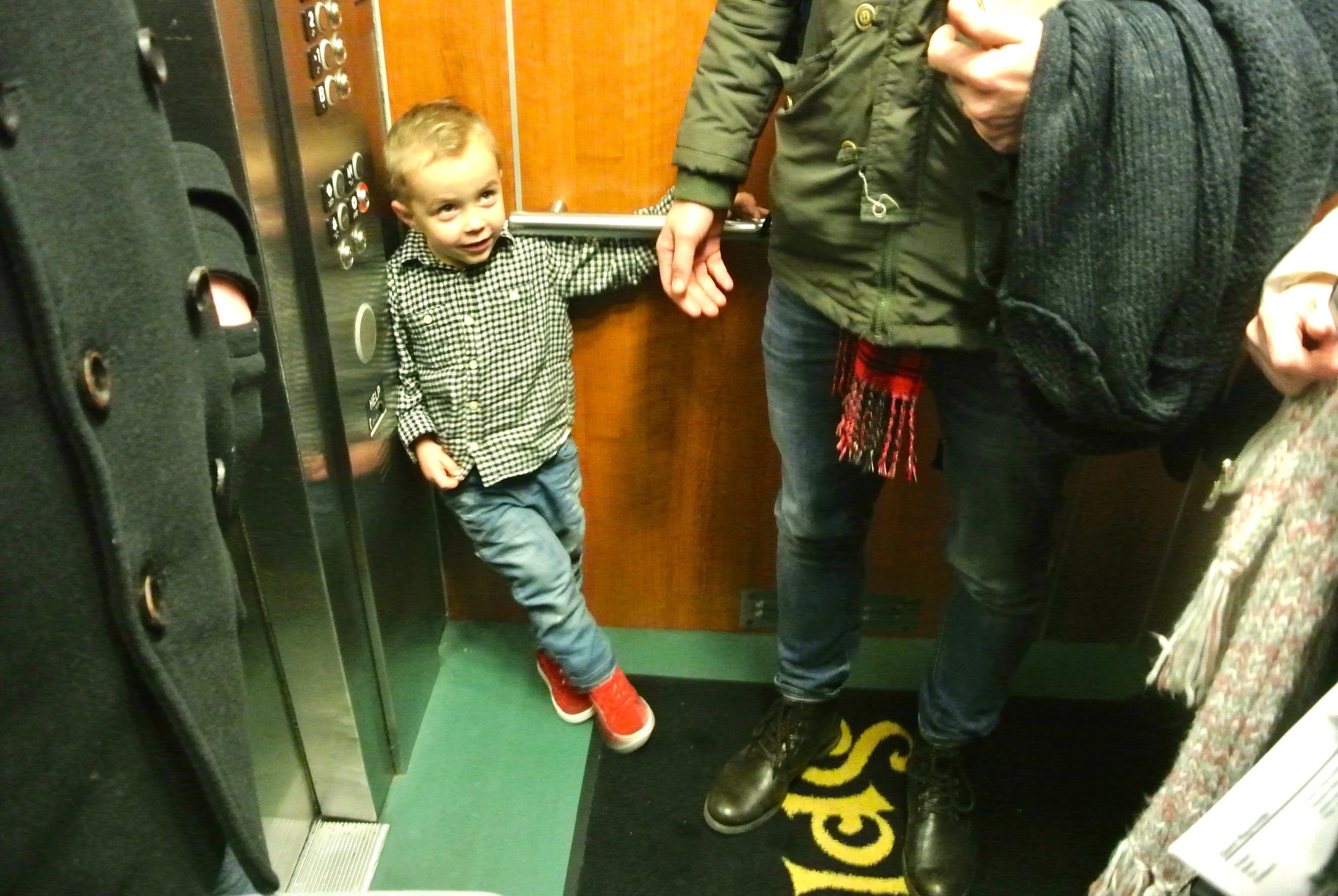 levi in the lift