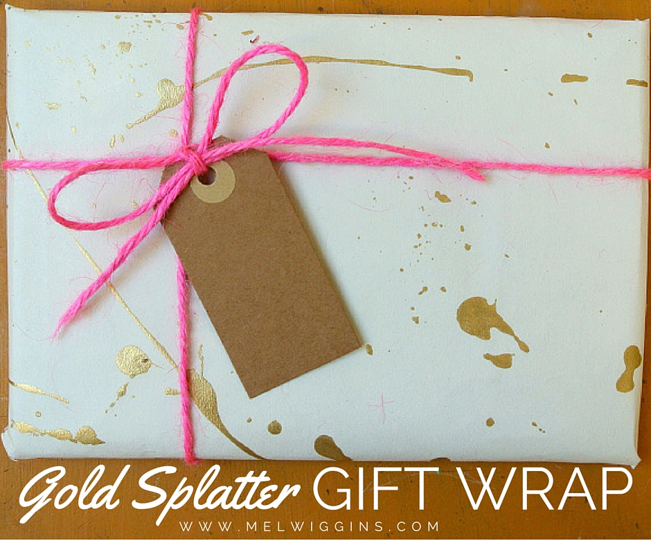GOLD SPLATTER GIFT WRAP