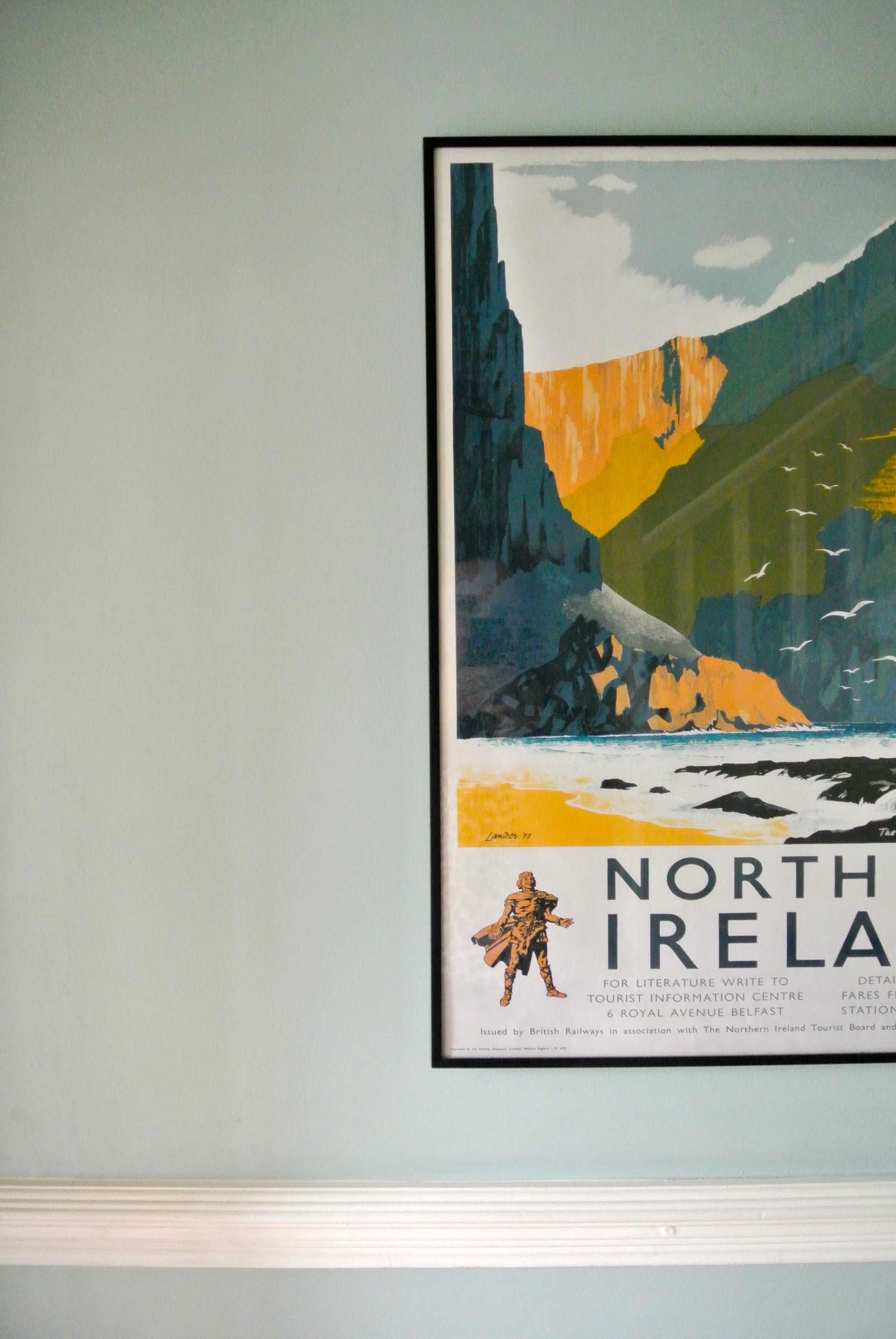 northern ireland tourist poster