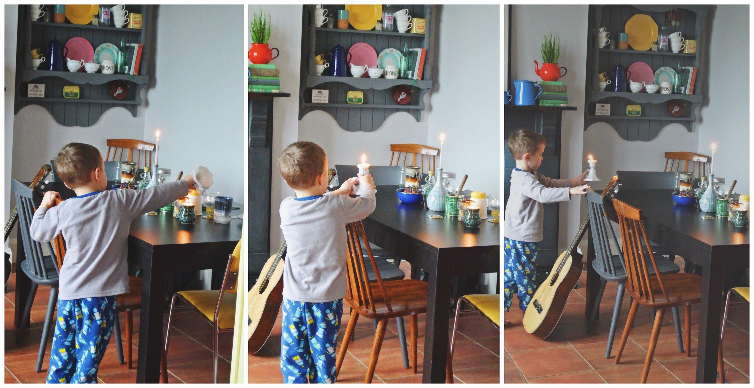 Levi Setting the Table