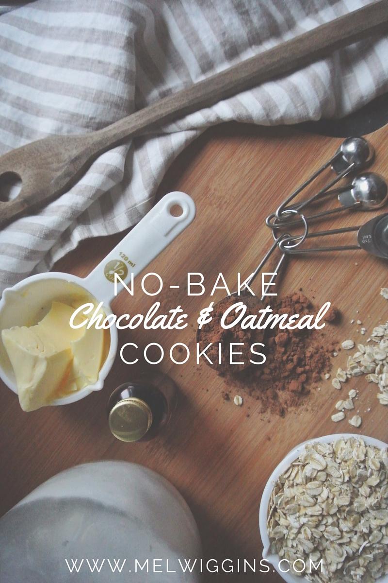 No-Bake Chocolate & Oatmeal Cookies