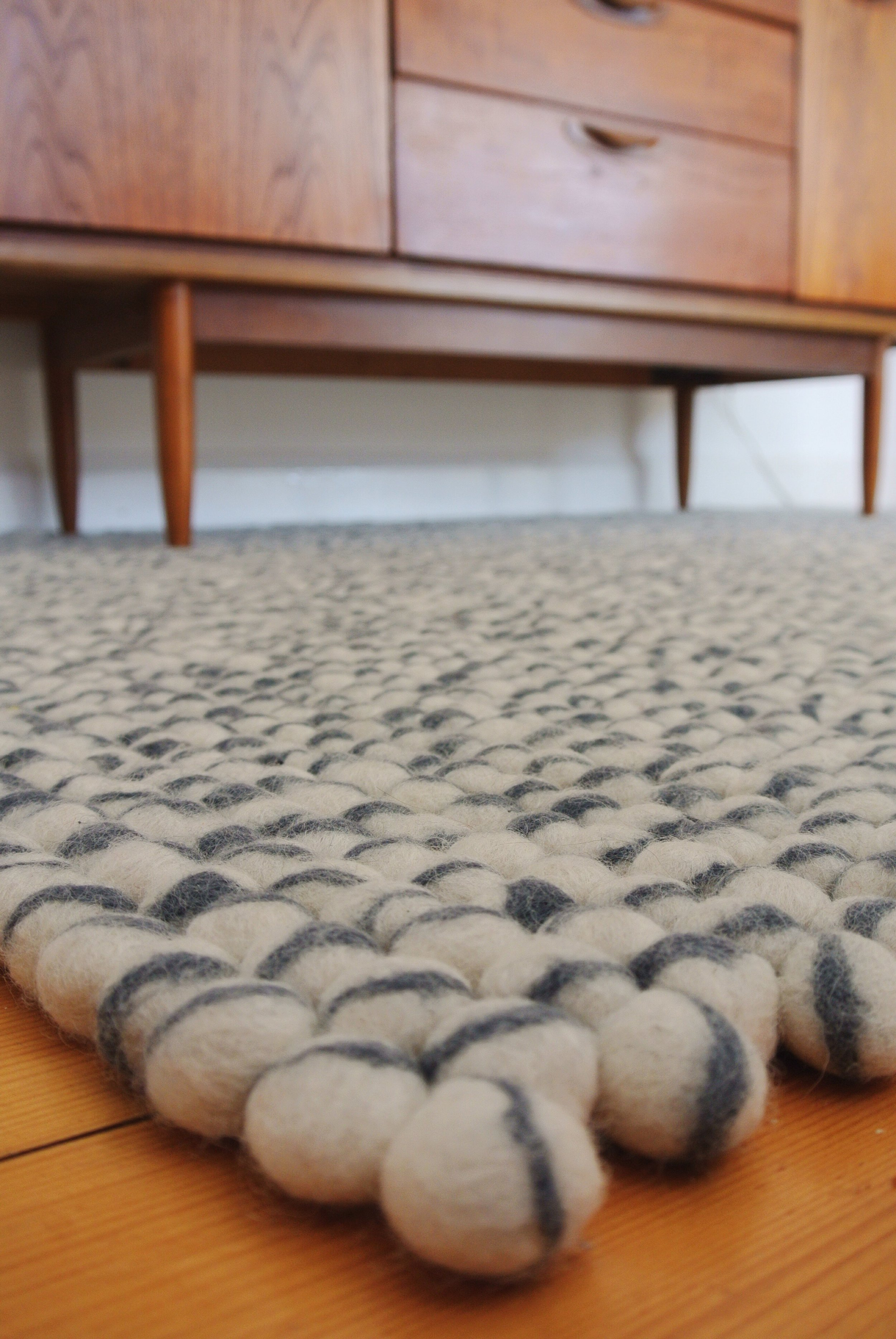 Sukhi Felt Ball Rugs on MelWiggins.com Eco Fair Trade