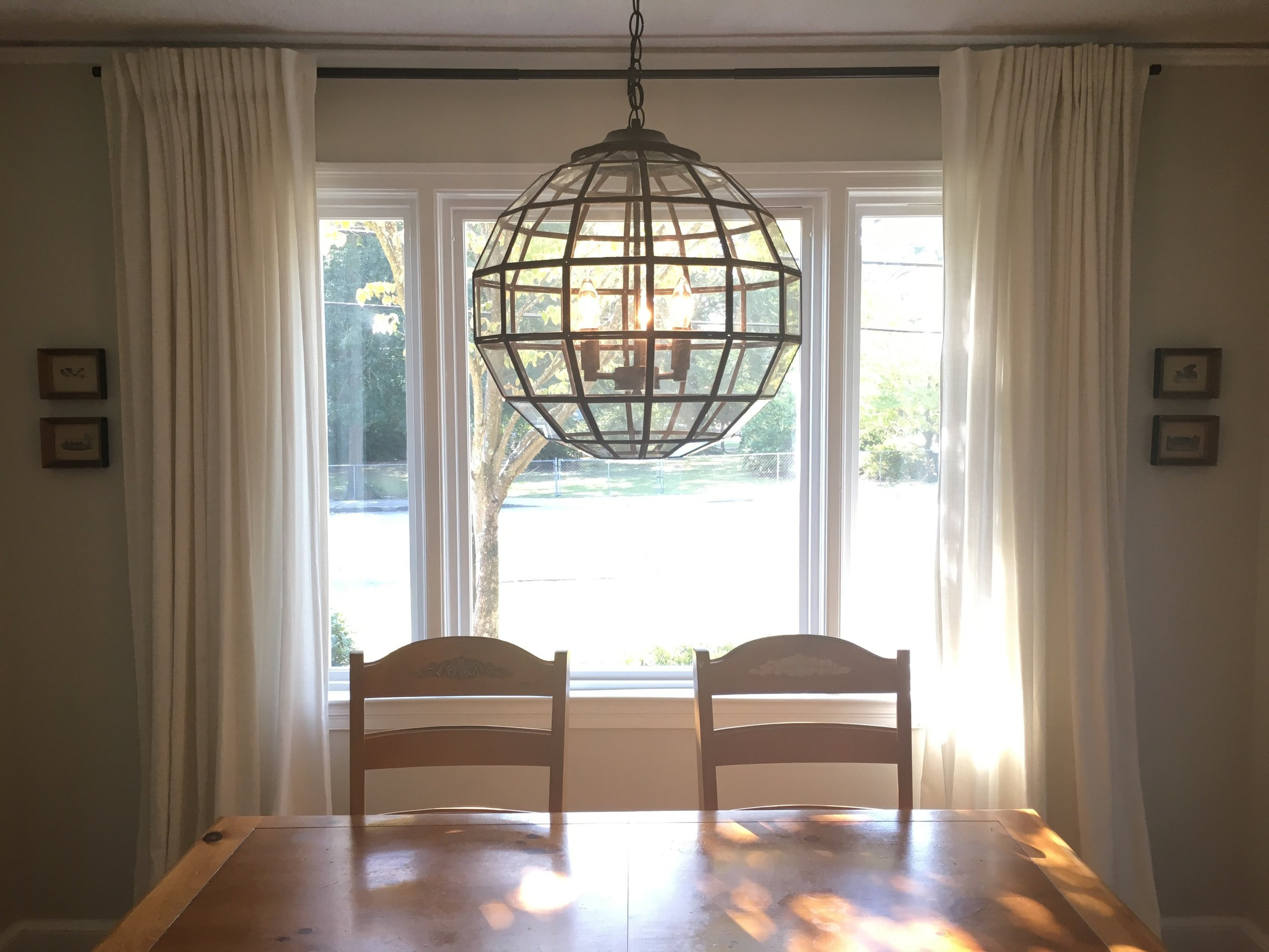 Cultivate Interiors | Interior Design | Columbia, SC. Dining Room/Hallway  Light Fixture Installs
