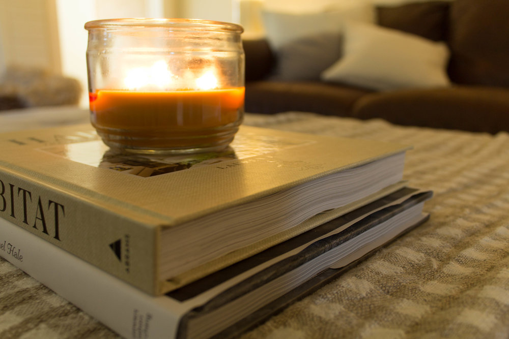 candle-on-books