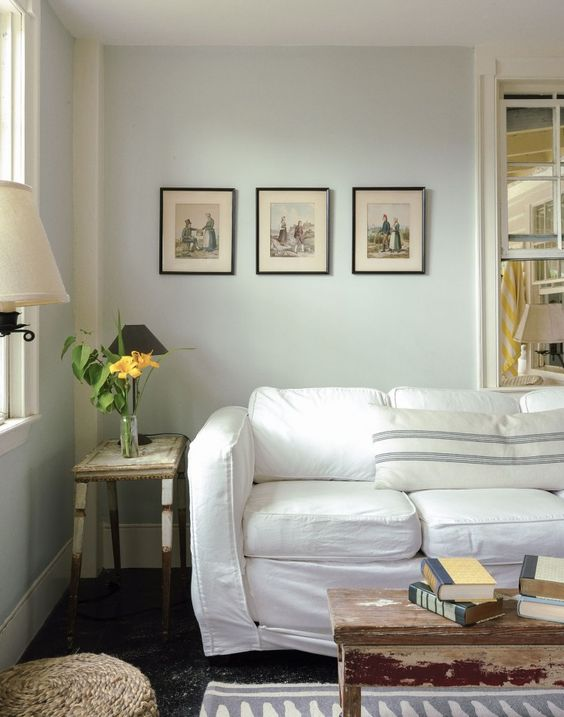 Simplicity + vintage + slipcovered = everything I love. via Remodelista