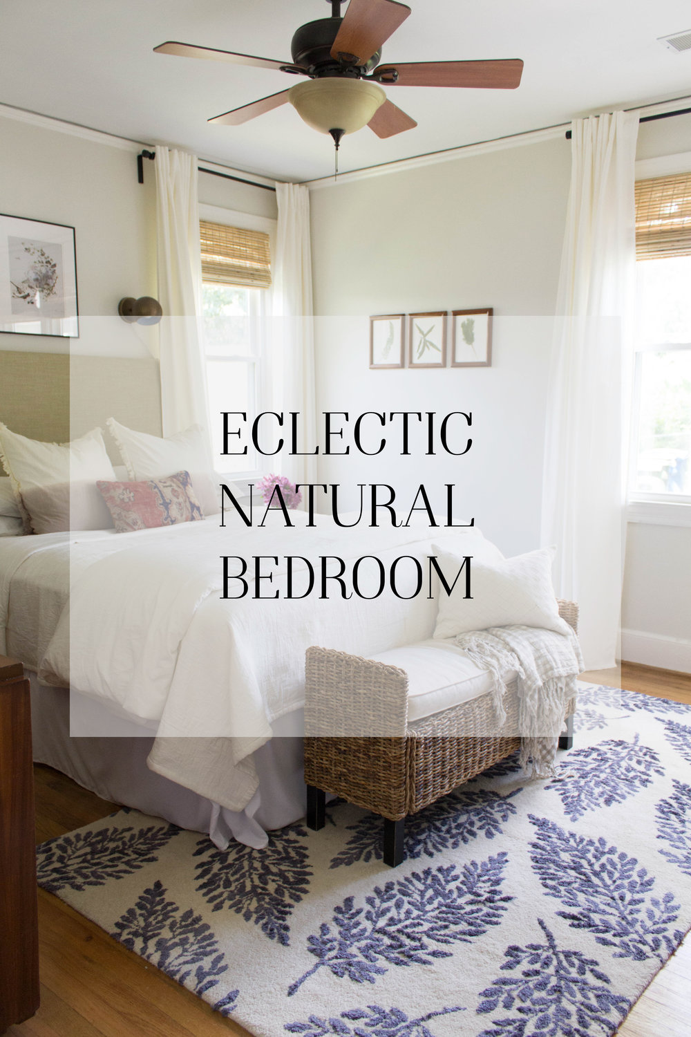 Love this eclectic bedroom!