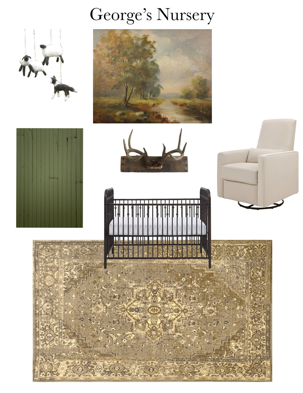 CULTIVATE INTERIORS || DESIGNING MY BEST FRIEND'S NURSERY - INITIAL STAGES