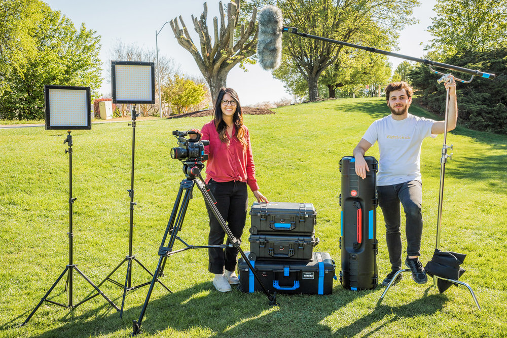 2-person crew with basic lighting kit.