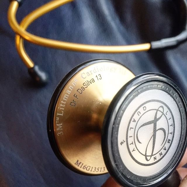 @doctordasilva13 - I currently have an all-black @3mlittmann stethoscope, but to celebrate reaching the dream I had since I was 4 years old to be a Family Doctor (GP), I will be buying myself a new one. I'm thinking of gold or they do a champagne finish with a black tubing. I know it's a bit attention seeking, but honestly this will be the greatest achievement of my life in a few months. Literally all my life has been heading in the hope of reaching this moment and I need to make sure when it happens, I truly truly enjoy and celebrate it.