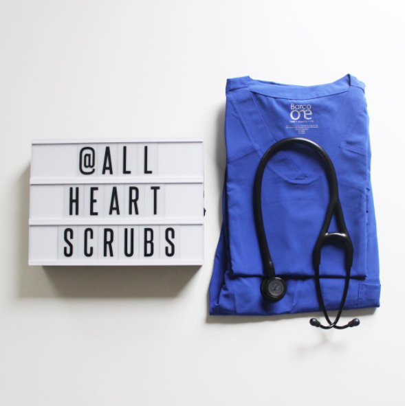 #RealCaregivers: @merelycash - Nothing like getting a new pair of your favorite scrubs. 💙 You can find these COOL + COMFY #barcoone scrubs at @allheartscrubs. 🙌🏼📦