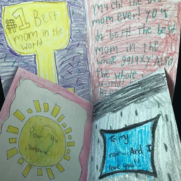 - My girls made me rebirthday cards!! They are the best kids anyone could ask for!!