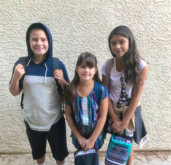 - First day of school!!! Emma-4th grade. Hayden-6th grade. Judi-7th grade. Can't believe how big they are getting.