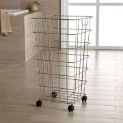 This laundry basket is one of my favorite ball holders.    Crate & Barrel $39.99