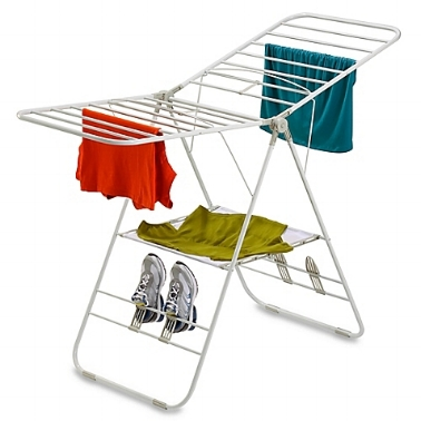 Honey-Can Do Drying Rack - Love this one as it has optimal horizontal bars for those leggings, a flat area for the smaller (or delicate items) and even a place to air out those dirty sneakers (and give them a spray too). $29.99 at Bed, Bath & Beyond