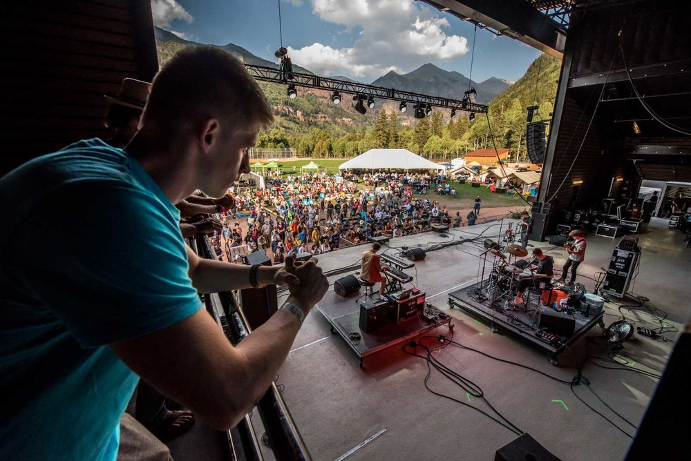 Enjoy an on-stage viewing area, close to the performers featuring a beautiful mountain backdrop offering the most intimate festival experience possible.