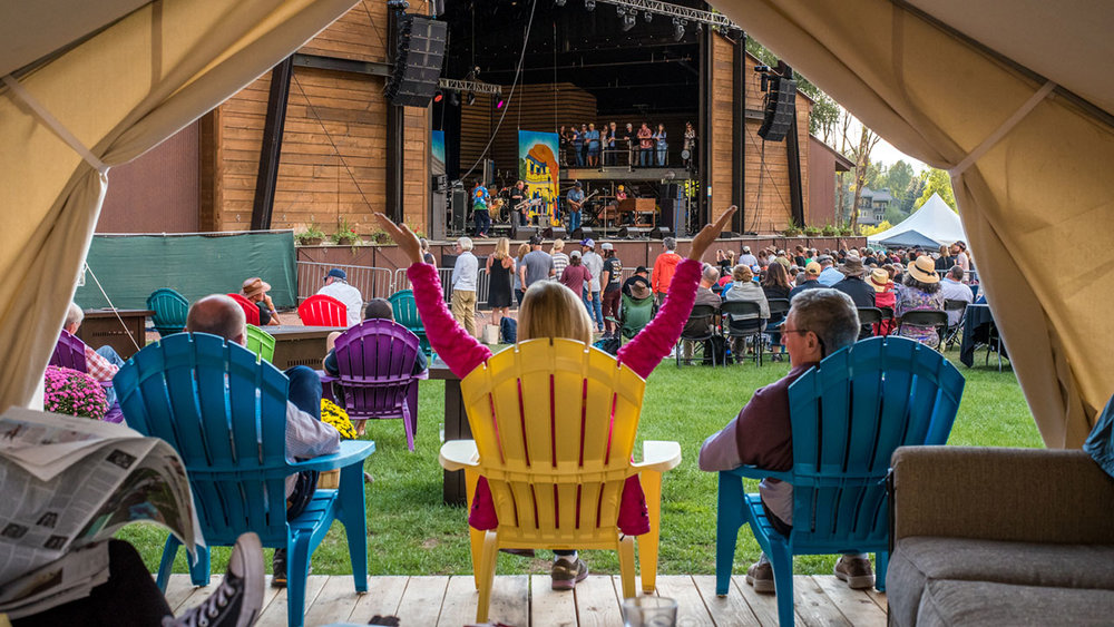 Enjoy the world-class music on the Main Stage from the comfort of your covered front porch.