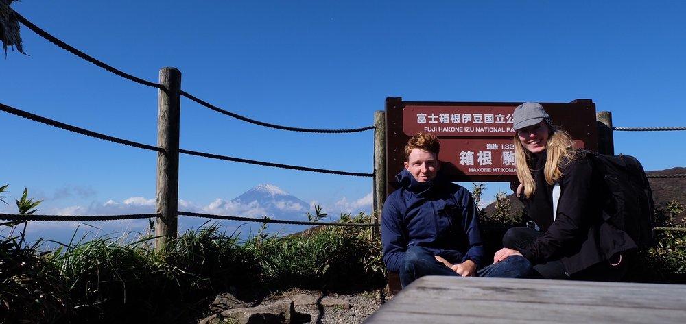 Mt. Fuji in the background