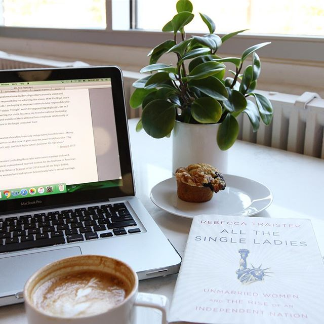 Yes Way! goes to grad school 📚✏️ Working on my final paper about women and  leadership, at a women-owned coffee shop, of course 💁🏼 Empire Coffee (@empirempls) is fueling and inspiring me! Where do you like to work and feel inspired? • • • • And why yes, that is a Beyoncé quote in my paper 👑• • • • #yesway #yeswaytravel #womenownedbusiness #womenowned #minneapolis #twincities #mnlife #womenofminneapolis #beyoncé #whoruntheworld #allthesingleladies #rebeccatraister #bookstagram #booksandcoffee #mnbloggers