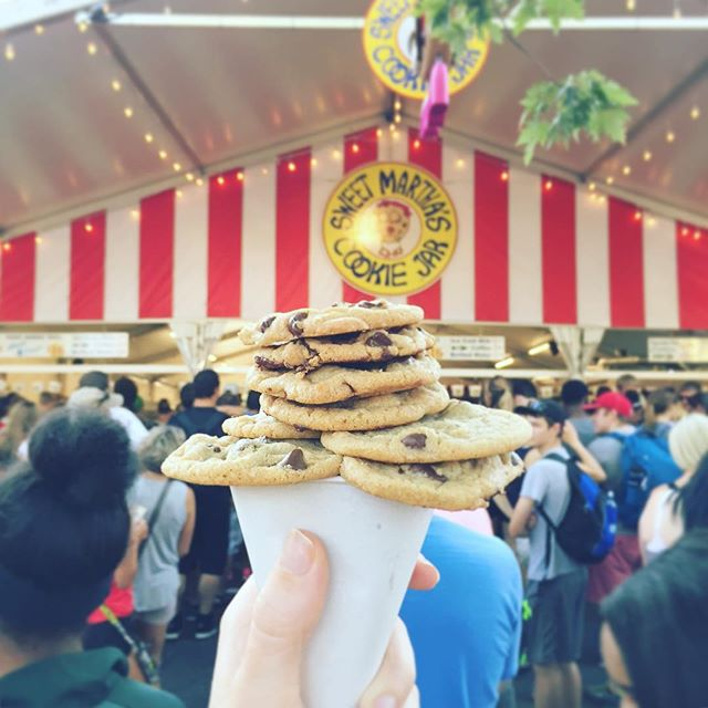 The last day of the Minnesota State Fair - did you know that Sweet Martha's is a women-owned business and owner Martha Rossini Olson makes $4 million in 12 days? She runs the top selling food stand at the fair year after year. Yes Way, @sweetmarthas! You're killing the cookie game 🍪• • • • • • #yesway #yeswaytravel #womenowned #womenownedbusiness #femaleowned #dollarpower #powerofthepurse #sweetmarthascookies #sweetmarthas #mnstatefair #mngettogether #onlyinmn #exploremn #womenpower #womenempowerment #womenenpoweringwomen