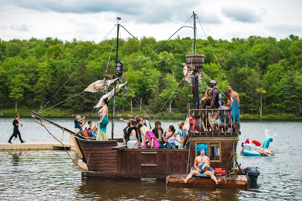 Lake & Pirate Ship - Grab a kayak and paddle up to the Pirate Ship. Meet a real-life mermaid, strip down to your birthday suit and jump in. Captain Tickles will be serving up his signature fish tacos and cocktails!