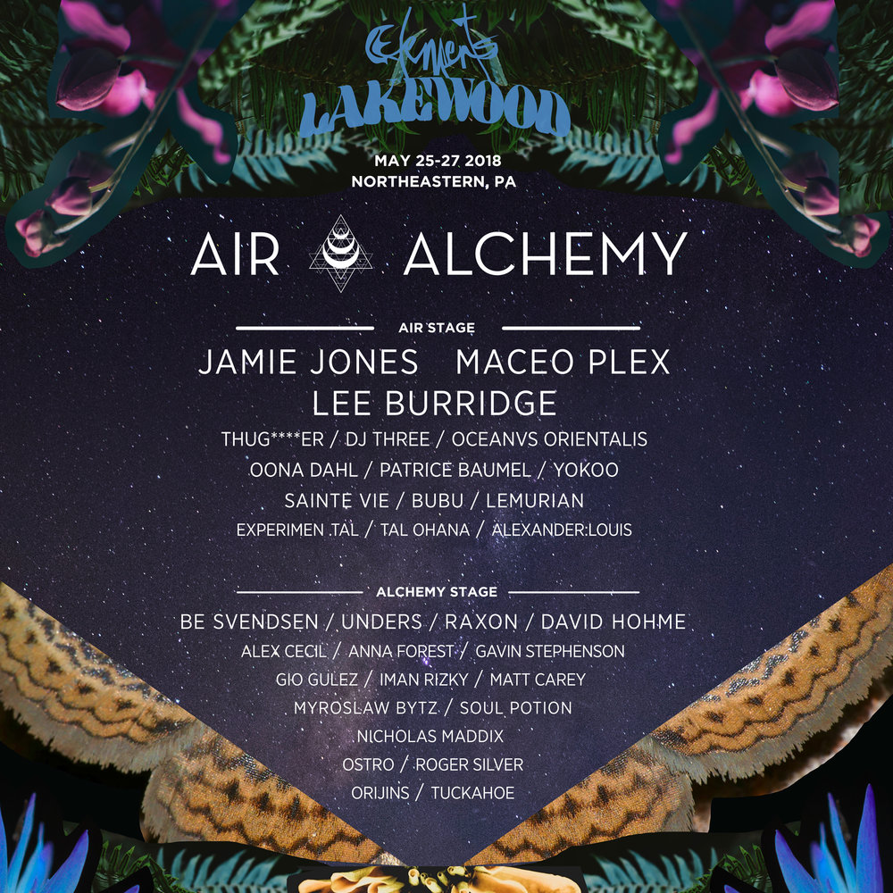 AIR & ALCHEMY STAGES - JAMIE JONES | MACEO PLEX | LEE BURRIDGEREAD MORE