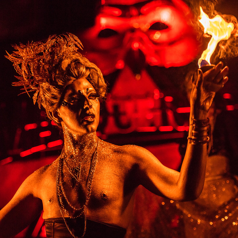 Personas of Pennsylvania - The arms and legs of the festivals - roaming, connecting and interacting.  Get familiar with the circus antics of the Fou Fou Ha! performance troupe, become entranced with the Aerialists Hybrid Movement Co, get Into Your Element with resident Funtender Rawb Lane, feel empowered with KaytiBunny Roberts, marvel at fire eaters, breathers and manipulators. Meet a real-life mermaid, the Captain of our pirate ship and the Ghost Pirates that battle down by the Water Stage.