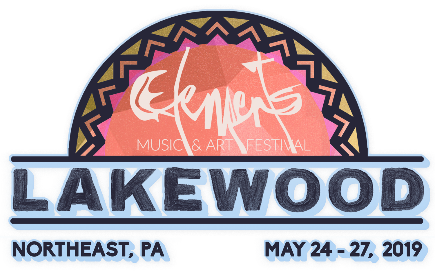 Elements Music & Art Festival - Lakewood, PA,  Memorial Day Weekend May 24-27, 2019