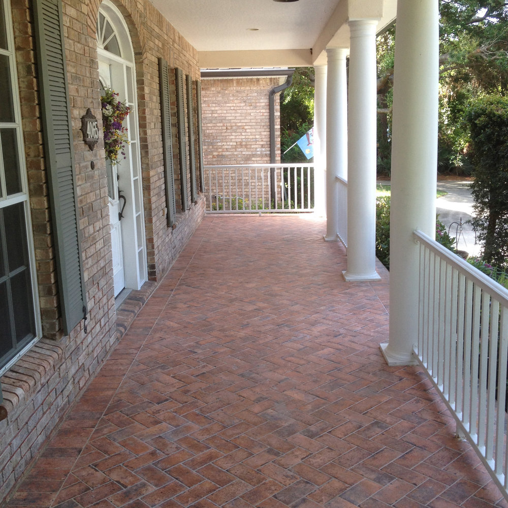 Herringbone brick tile porch 1 jpg