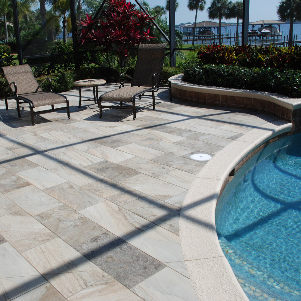 Outdoor Pool Deck Porcelain Floor Tile 1