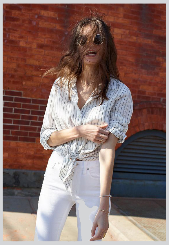 Madewell's new spring arrivals have me super excited for warmer temps and to break out the white jeans again.