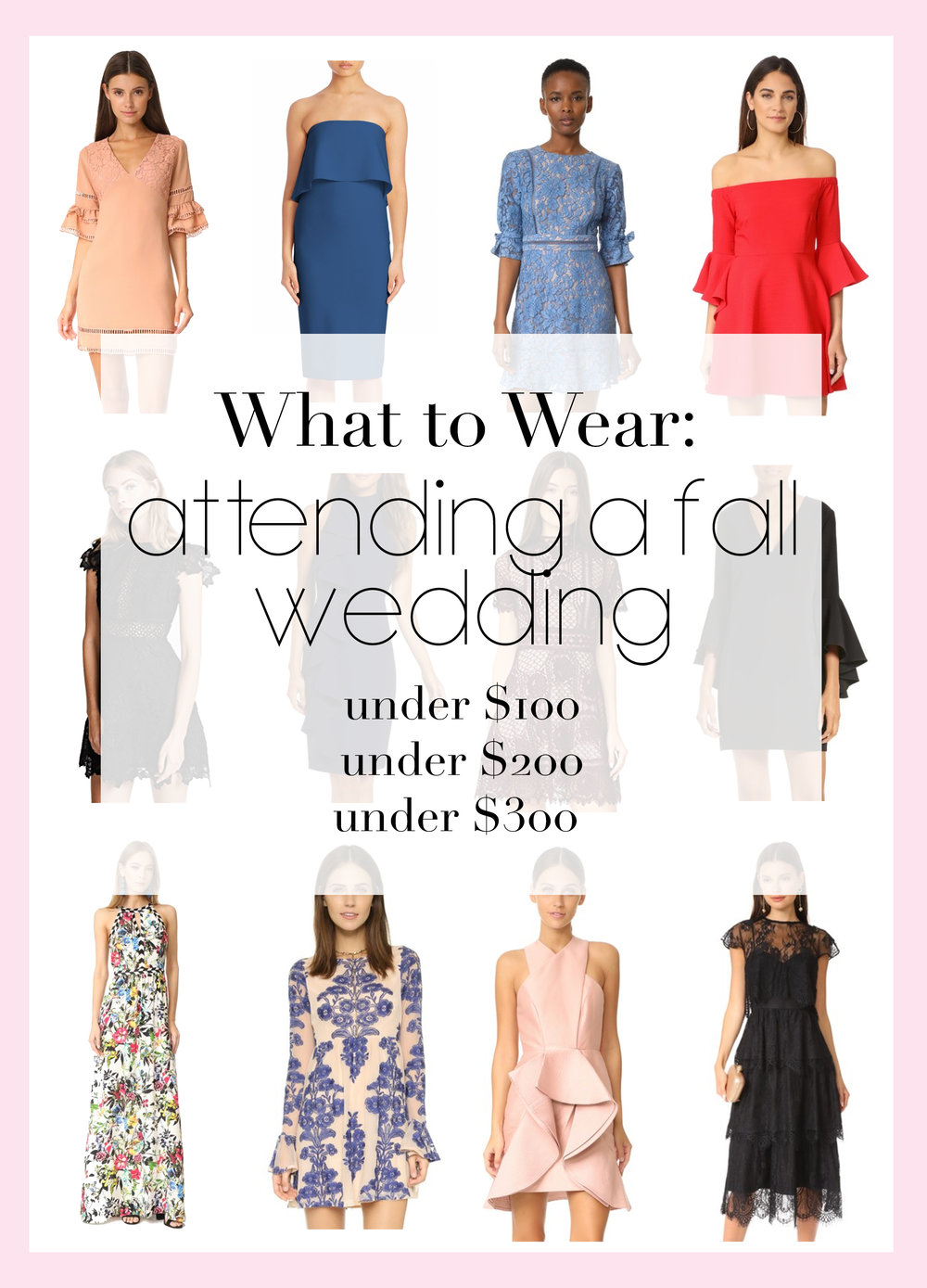 Wedding Attendee Dress Options