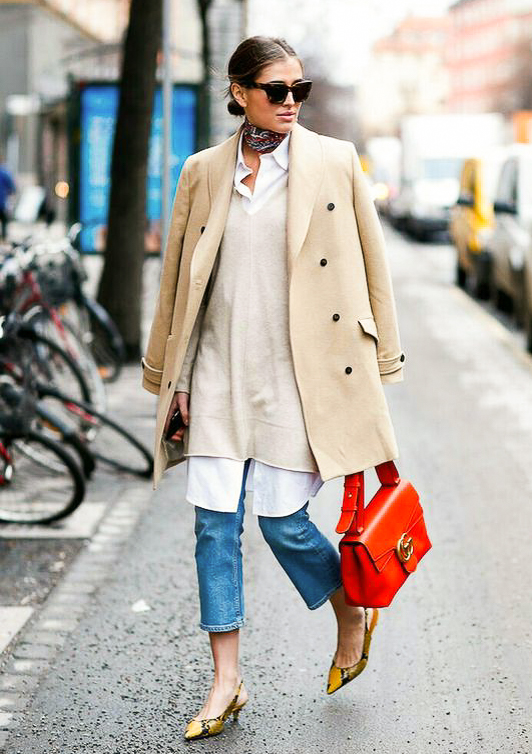 5. Dress + Jeans - Keep legs warm on cool days by tossing jeans under a light dress.