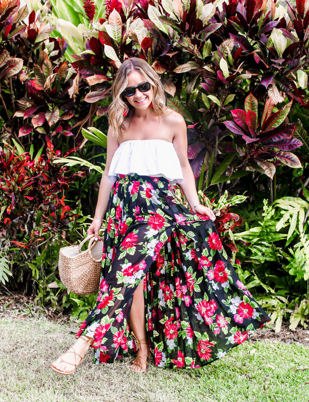 ca94f28db719 Floral Vintage Skirt — Fizz and Fade