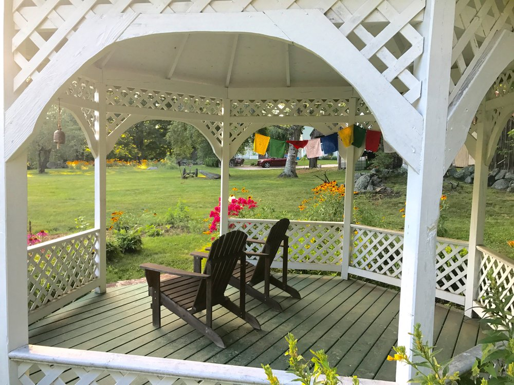 Gazebo for morning coffee