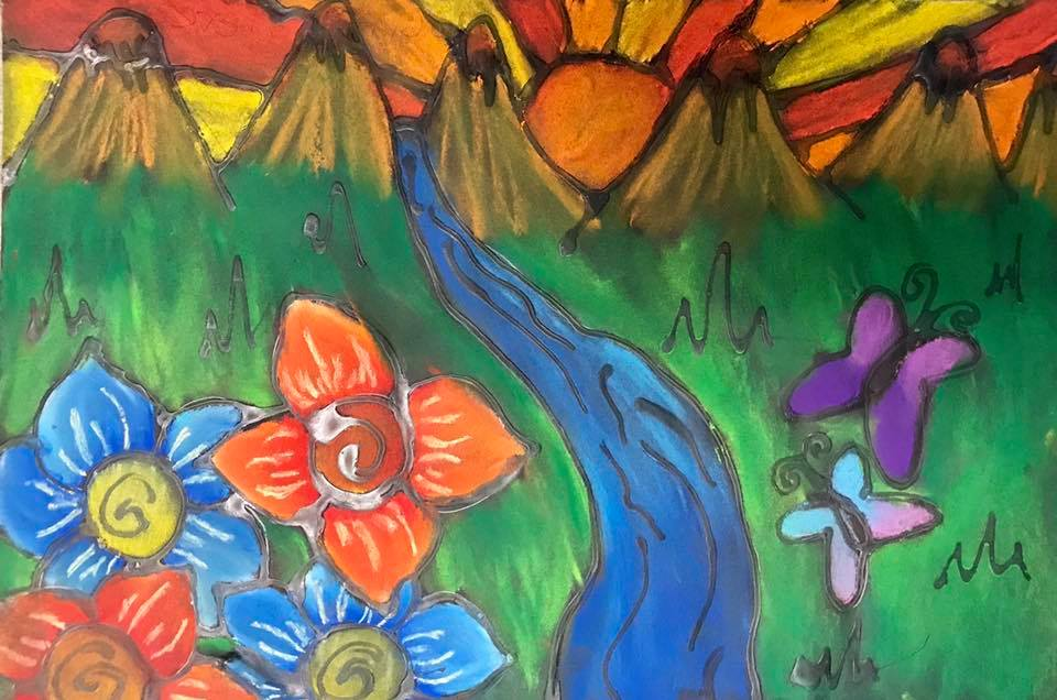 Landscapes - foreground, middle ground, background     (5th grade)