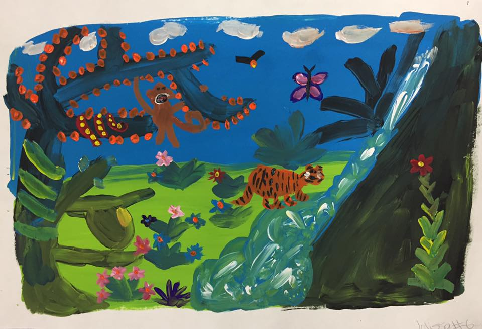 Rousseau -  cool and warm colors    (5th grade)