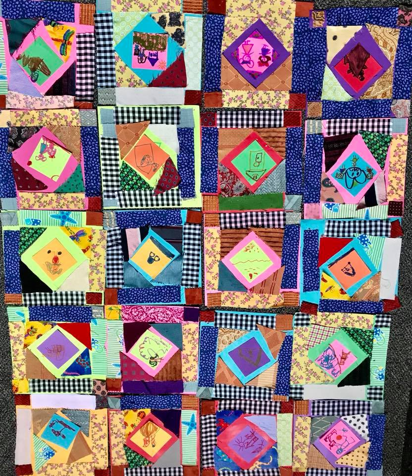 Faith Ringgold - quilting    (kindergarten)