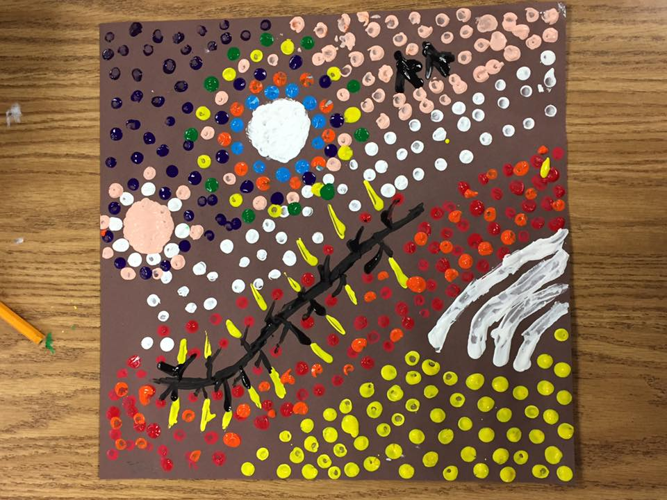 Aborigine Art - symbols, patterns  (6th grade)