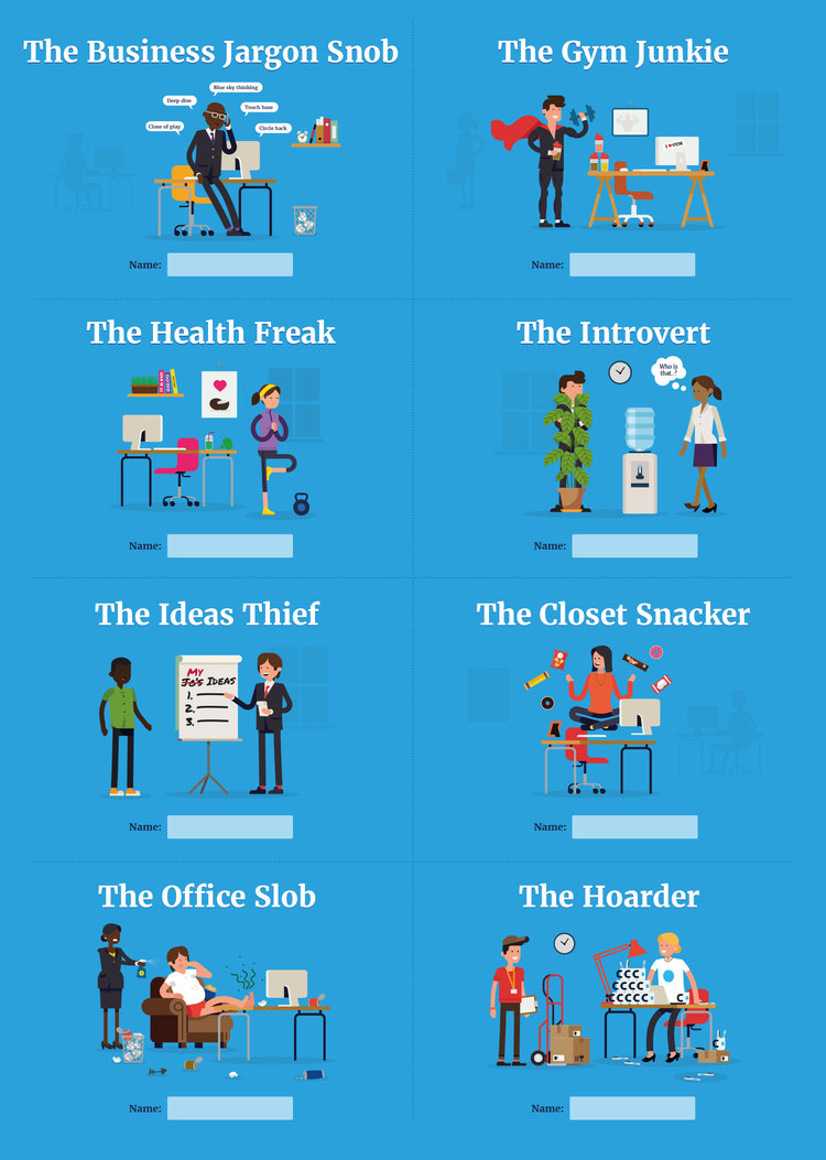office stereotypes. Powwownow Office Stereotypes Infographic \u2014 Bourne And Bred | Branding Design Studio West Malling, Kent Run By Freelance Graphic Designer Ian Friday O