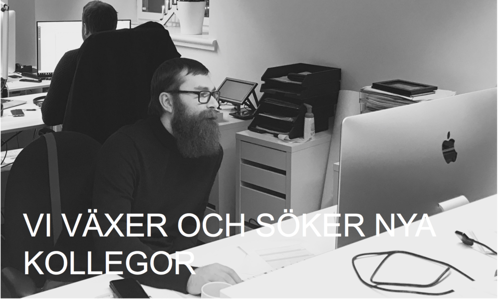 VI SÖKER FLER KOLLEGOR! -